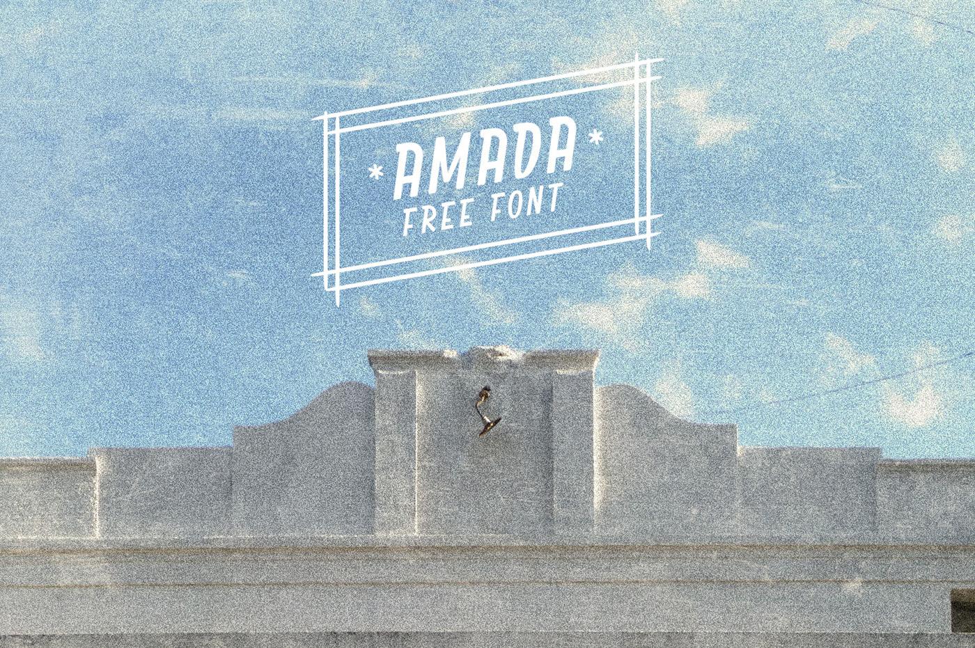Amada font on TheHungryJPEG