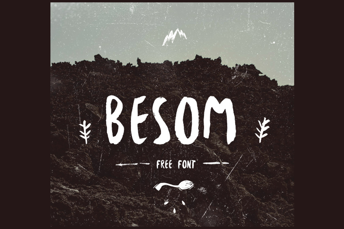 Explore Our Collection of Free Fonts - Besom font on TheHungryJPEG