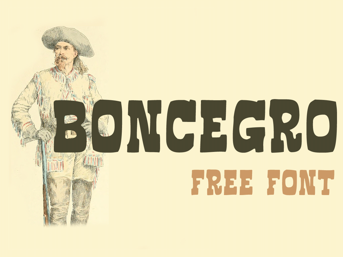 Explore Our Collection of Free Fonts - Boncegro font on TheHungryJPEG