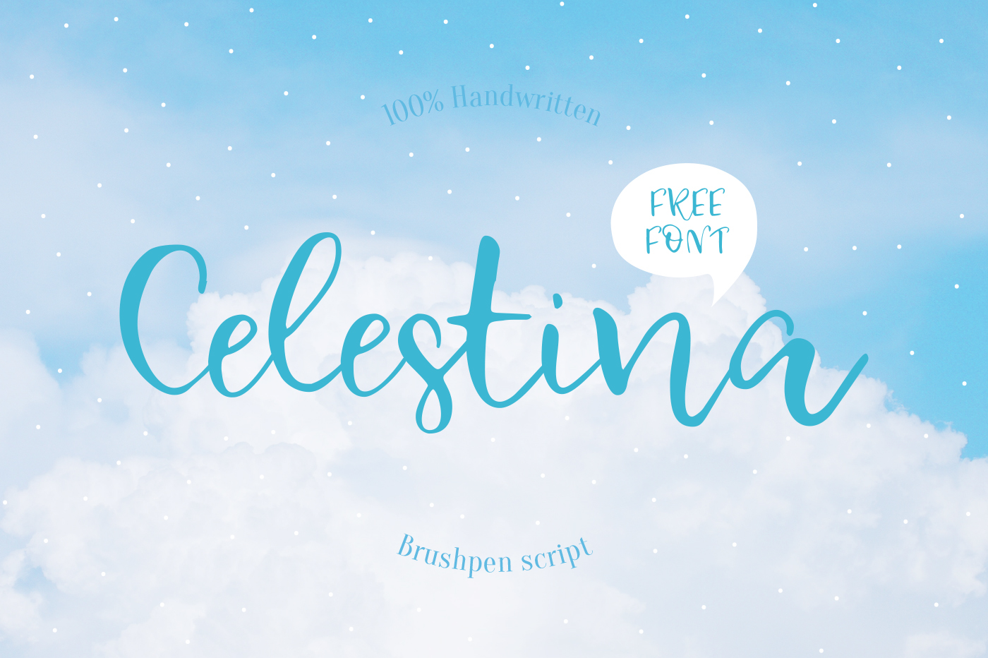 Explore Our Collection of Free Fonts - Celestina font on TheHungryJPEG