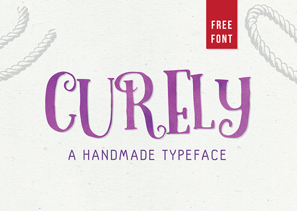 Explore Our Collection of Free Fonts - Curely font on TheHungryJPEG