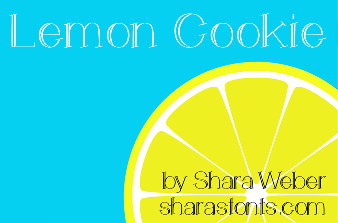 Explore Our Collection of Free Fonts - Lemon Cookie font on TheHungryJPEG