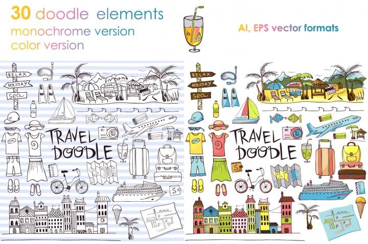 Let's Travel Doodles by KatiaZhe 2
