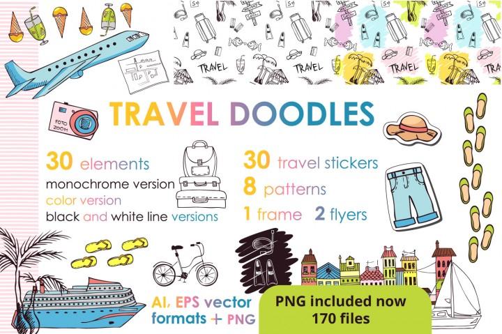 Let's Travel Doodles by KatiaZhe