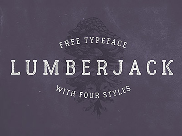 Explore Our Collection of Free Fonts - Lumberjack font on TheHungryJPEG