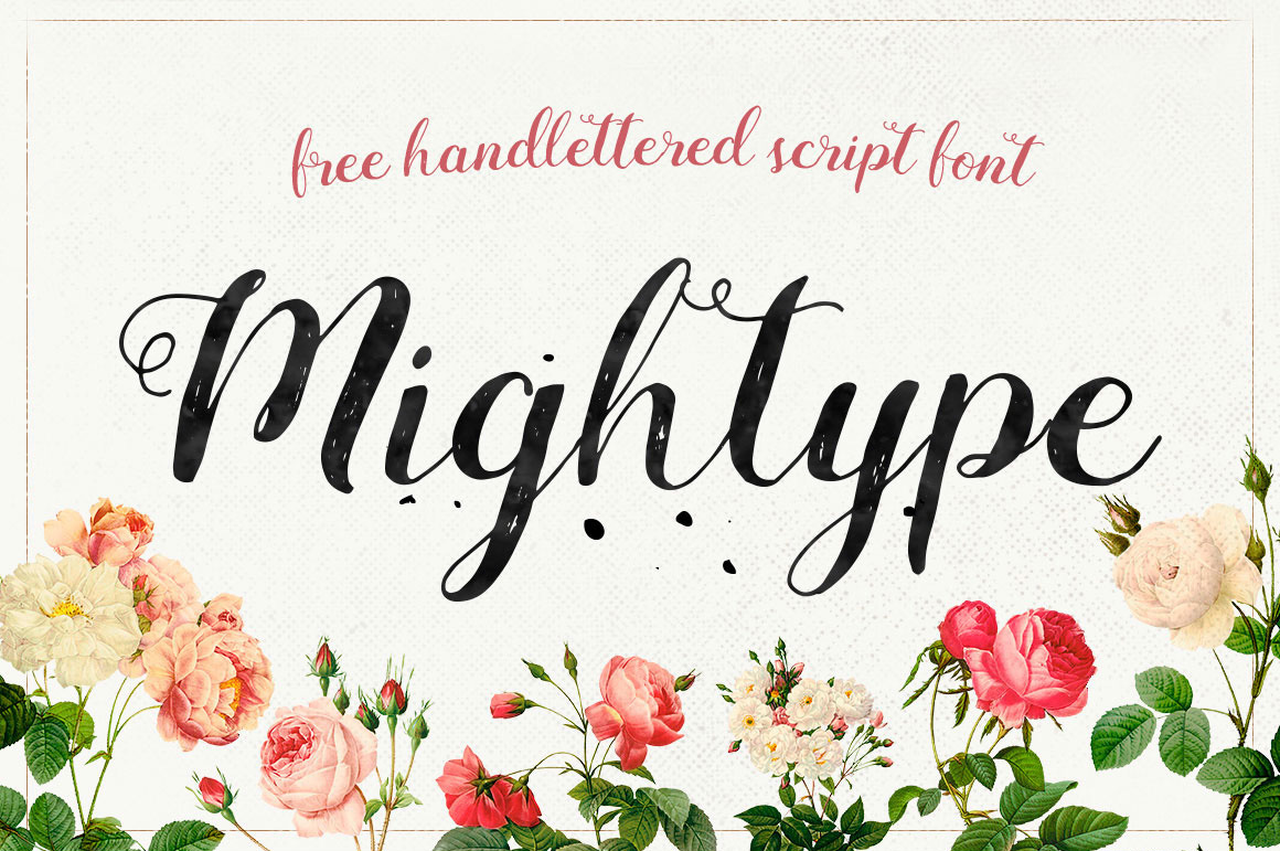 Explore Our Collection of Free Fonts - Mightype font on TheHungryJPEG