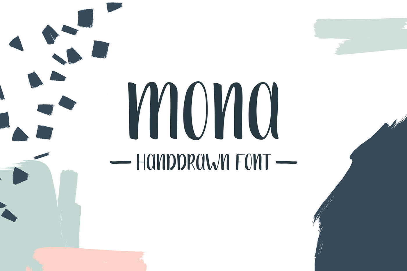 Explore Our Collection of Free Fonts - Mona font on TheHungryJPEG