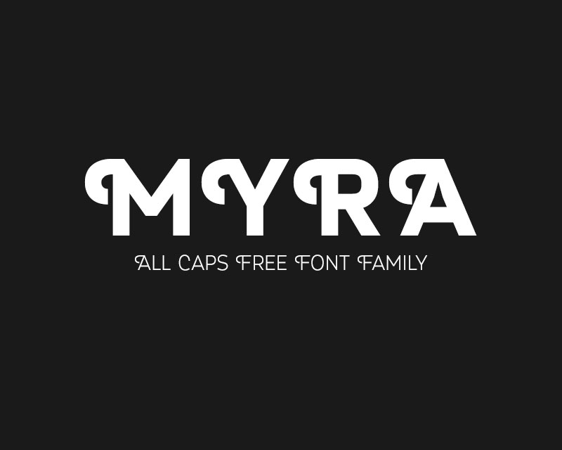 Explore Our Collection of Free Fonts - Myra font on TheHungryJPEG