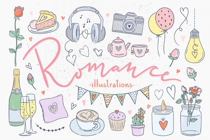 Romance Illustration by Redchocolate Illustration