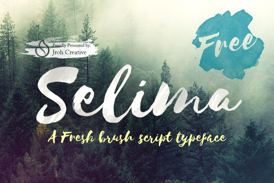 Explore Our Collection of Free Fonts - Selima Brush font on TheHungryJPEG