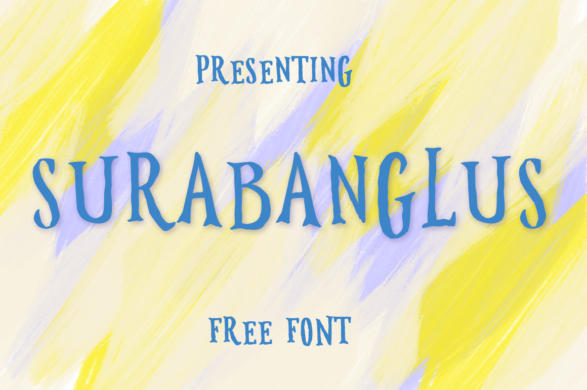 Explore Our Collection of Free Fonts - Surabanglus font on TheHungryJPEG