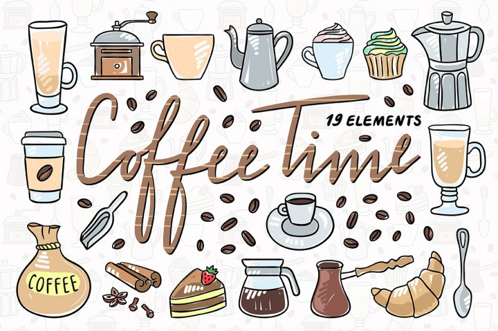 coffee time illustrations by Redchocolate illustrations