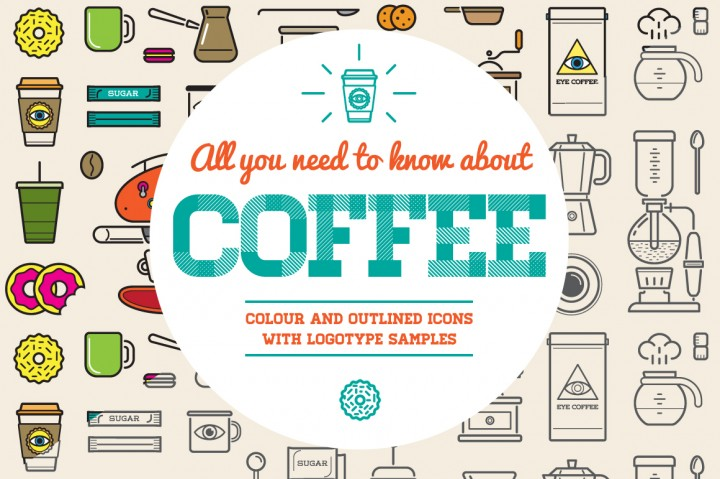 Awesome Coffee Icons and Logo Set by Ckybe's Store
