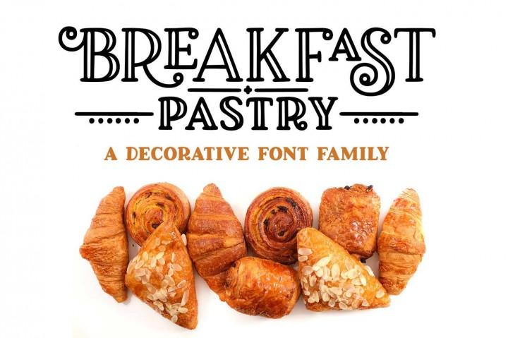 Breakfast Pastry Font by geekmissy