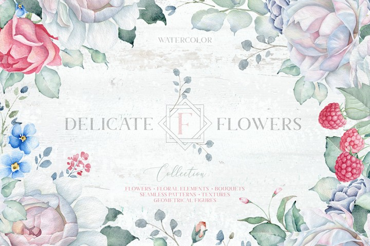delicate flowers collection