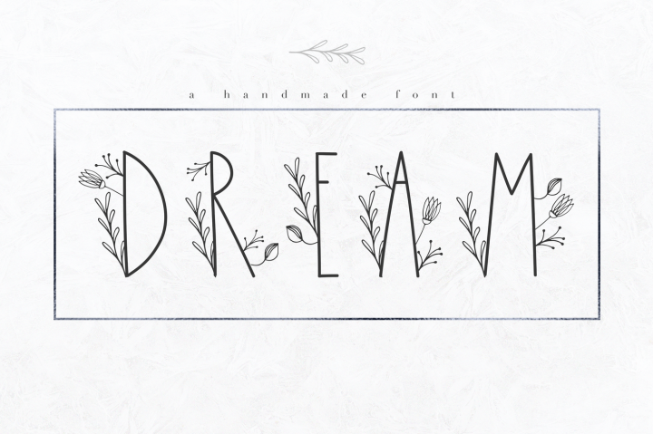 Dream - A Handmade Floral Font by KA Designs