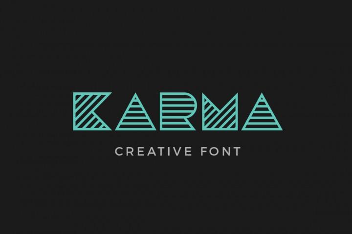Karma Font by Sentavio