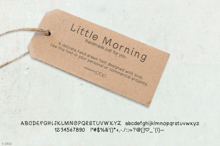Little Morning Font by pixelbypixel