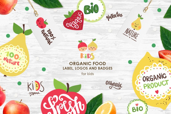 Organic Food Logos and Labels by Magic & Dreams