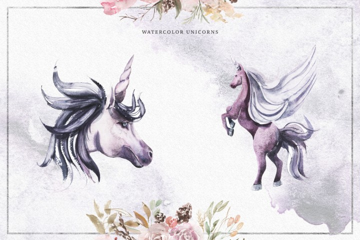 violet bouquets and unicorns