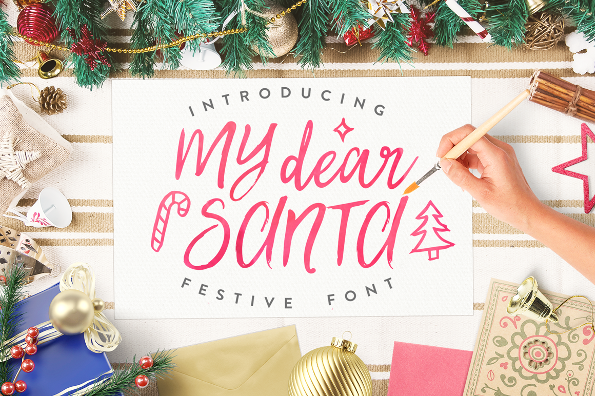 Impress Santa With Your Christmas Themed Fonts!