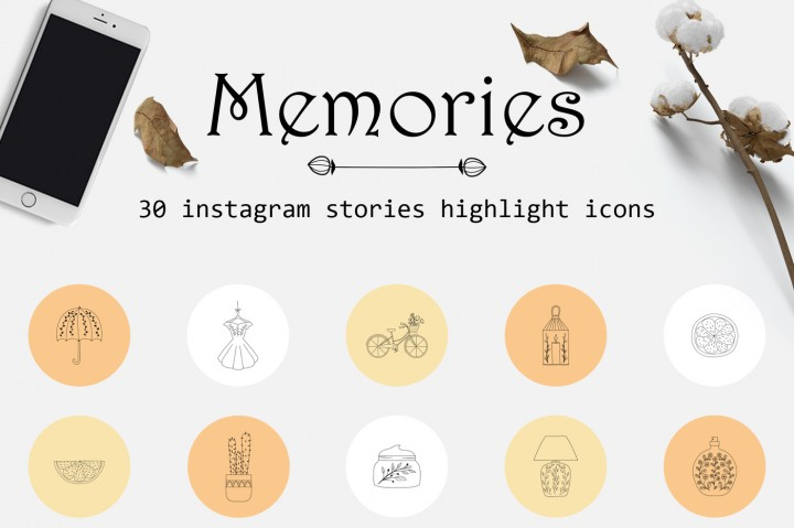 10 Brilliant Instagram Highlight Icon Sets Thehungryjpeg Blog