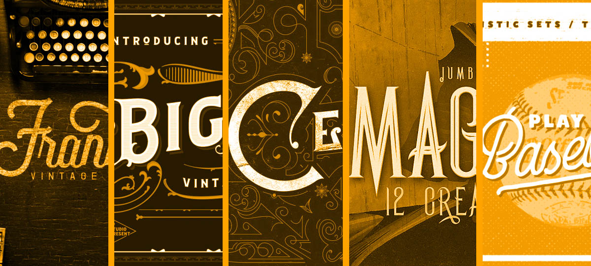 Grab These Top 5 Vintage Fonts To Create Retro Vibes
