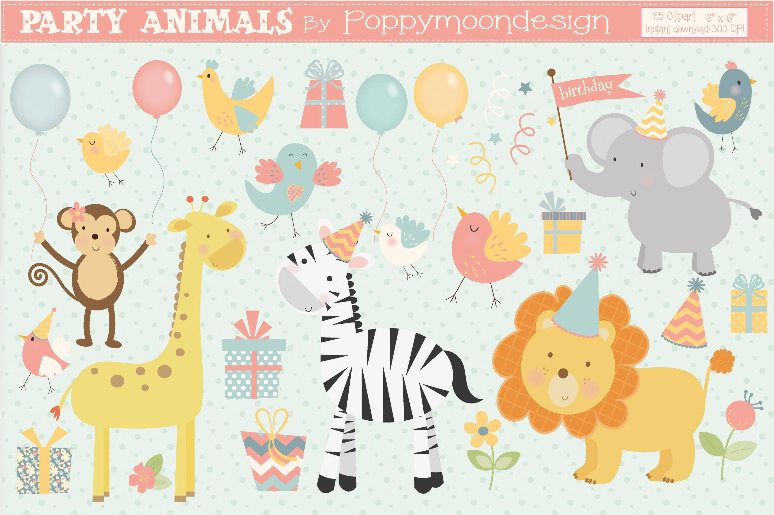 Birthday Party Idea? Grab These 3 Designs For FREE Now! - TheHungryJPEG Blog