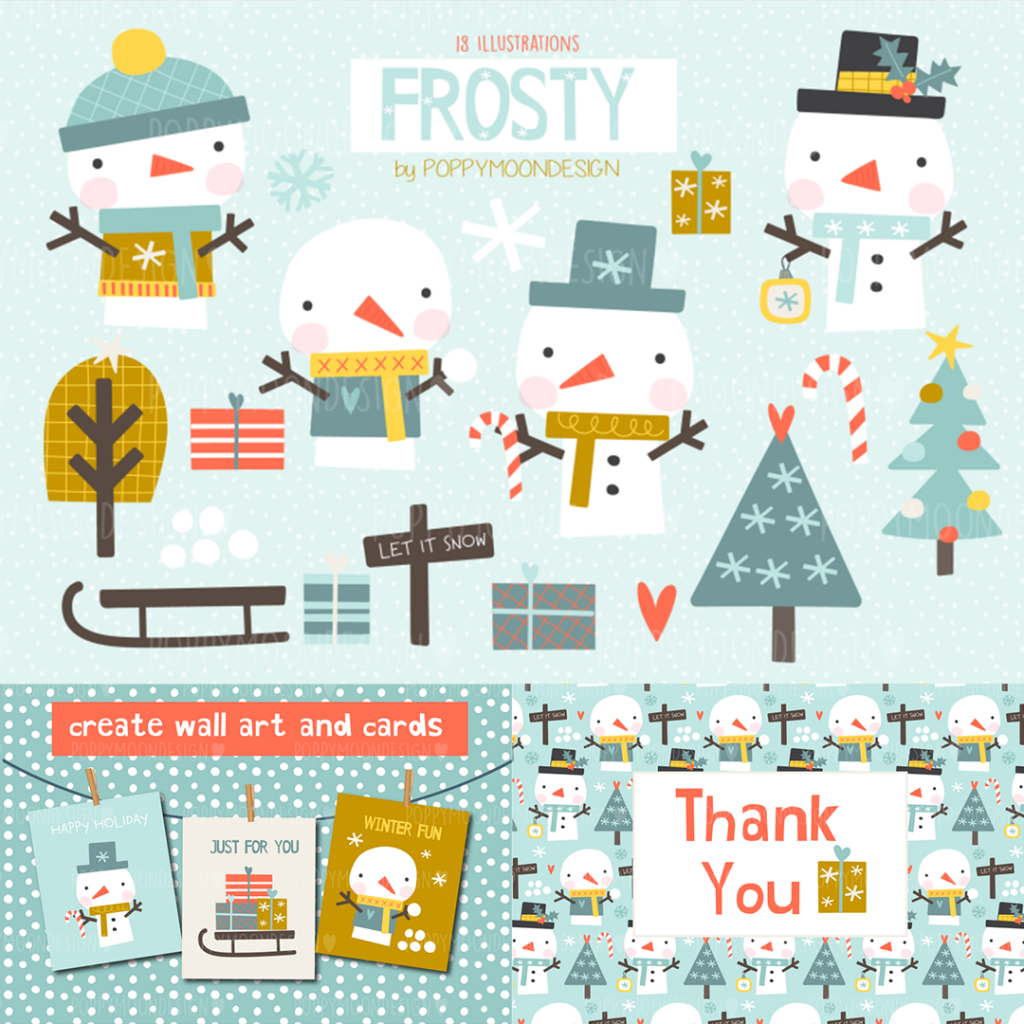The Cute Christmas Clipart Bundle: 1000+ Cliparts For Better Christmas