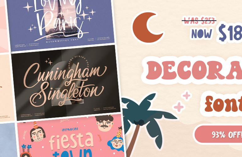 41 Unique Display Fonts In Decorative Display Font Collection