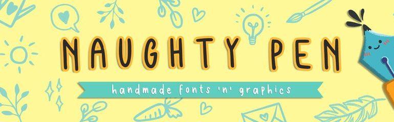 Font Designer of The Week: Naughty Pen | TheHungryJPEG