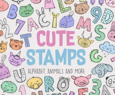 Design Your First Alphabet Stamp Set With 7 Free Fonts