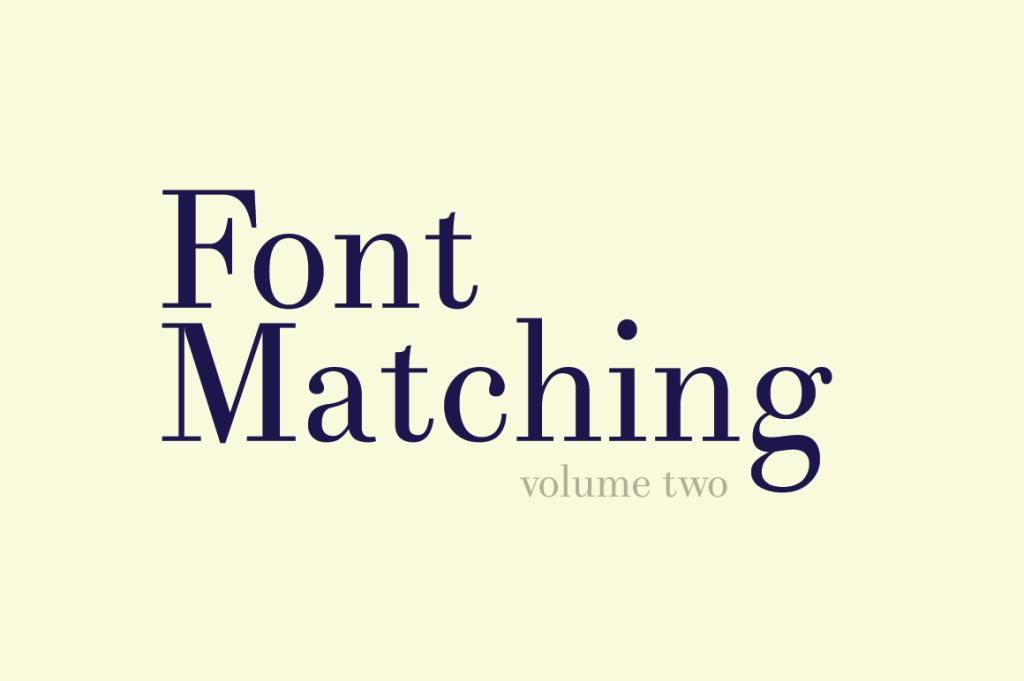 Font-Matching