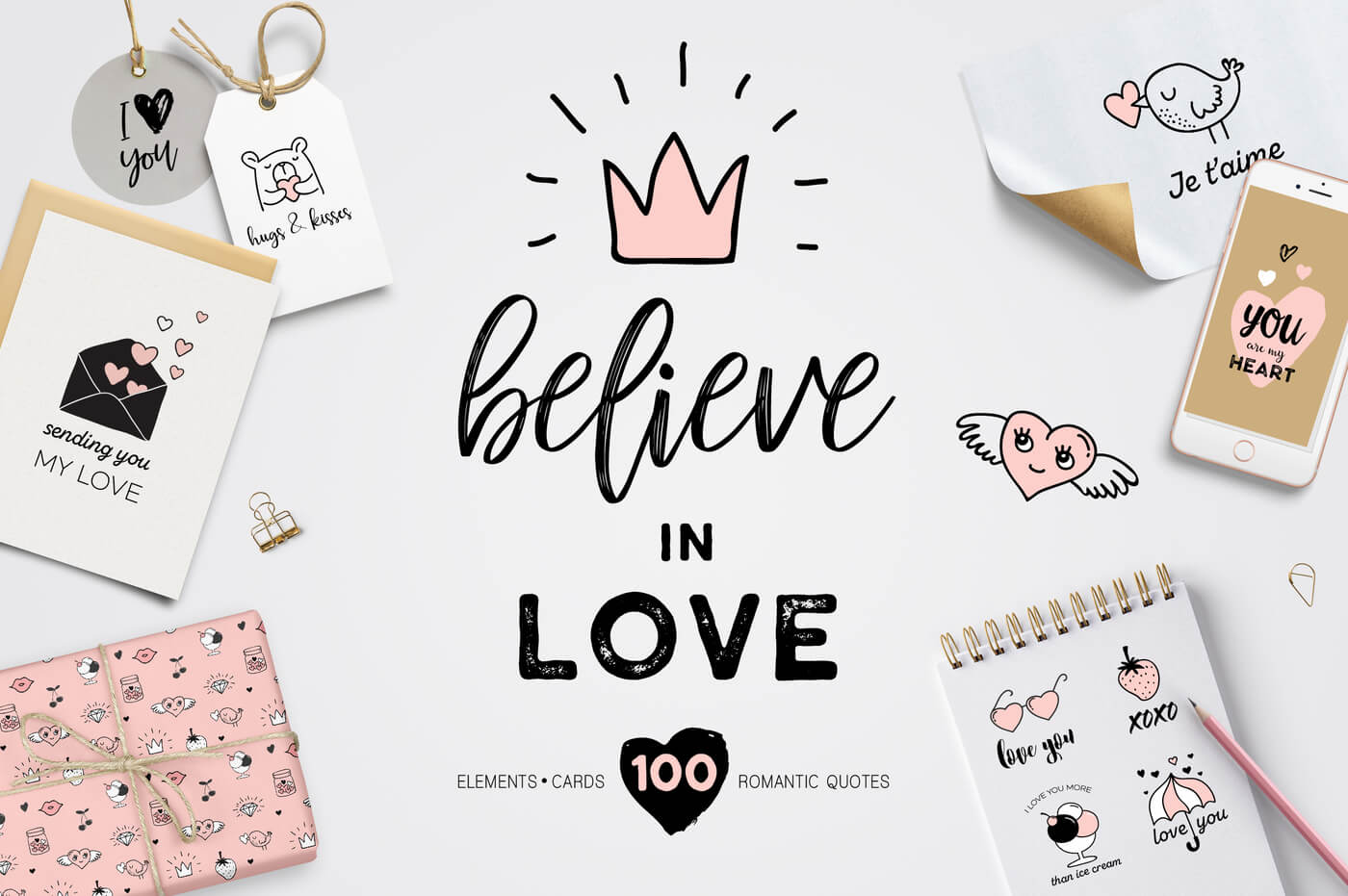 Believe in Love - Valentines set 1