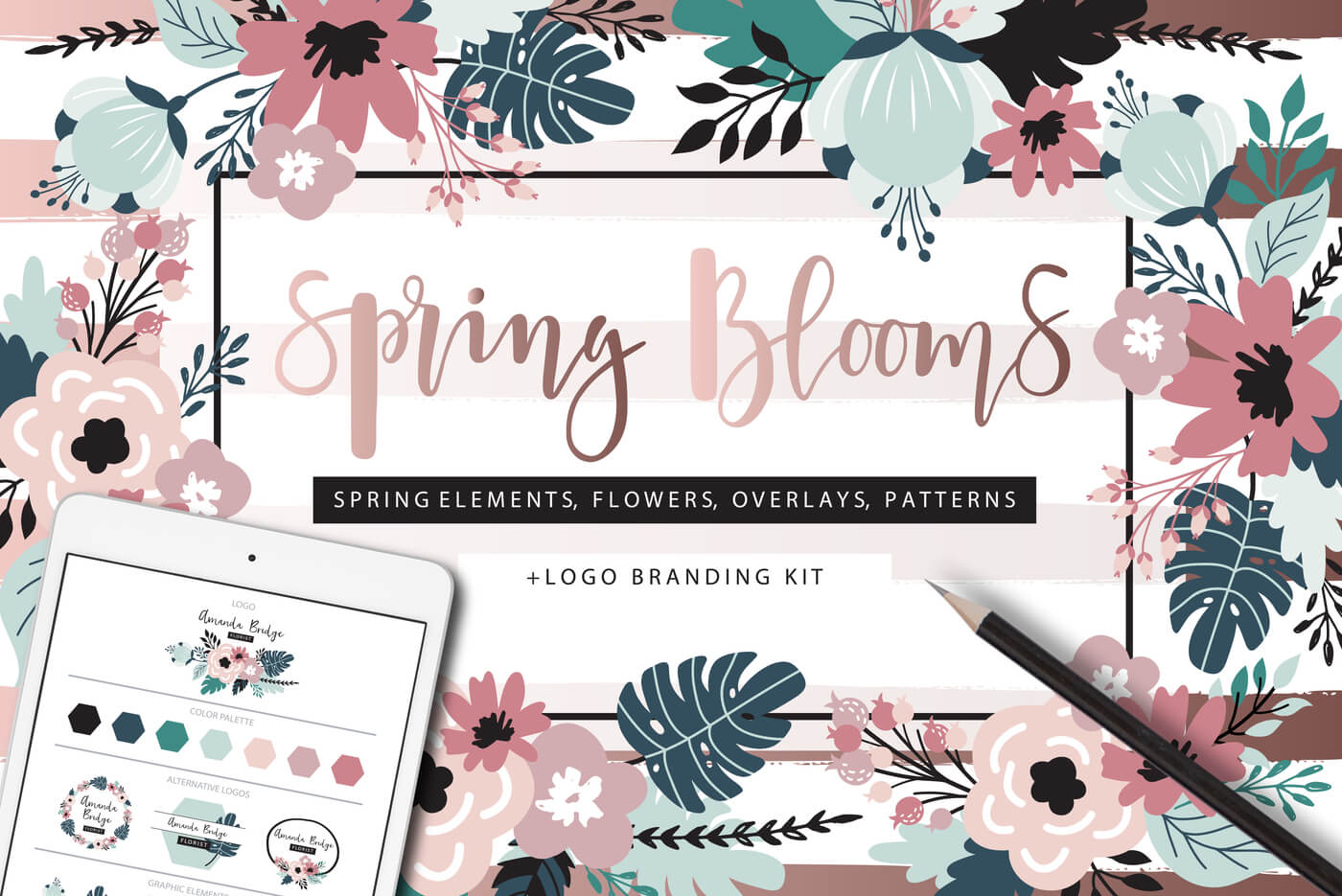 Spring Blooms Clip Art - The Fabulous February Bundle