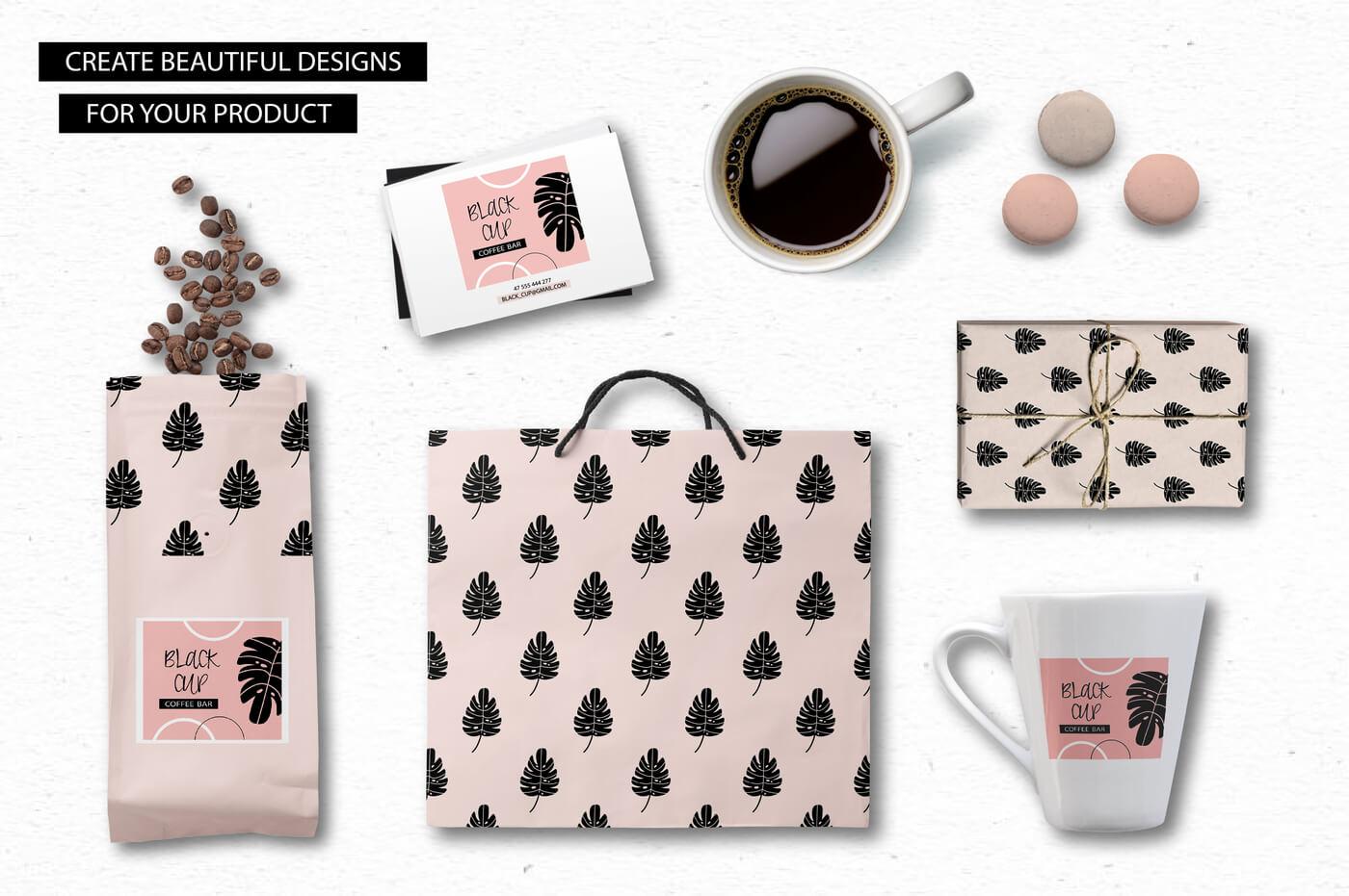 Spring Blooms clip art +branding kit 5