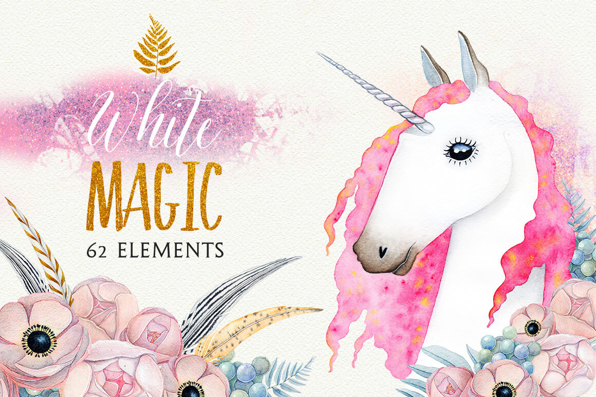 WHITE MAGIC watercolor set 1