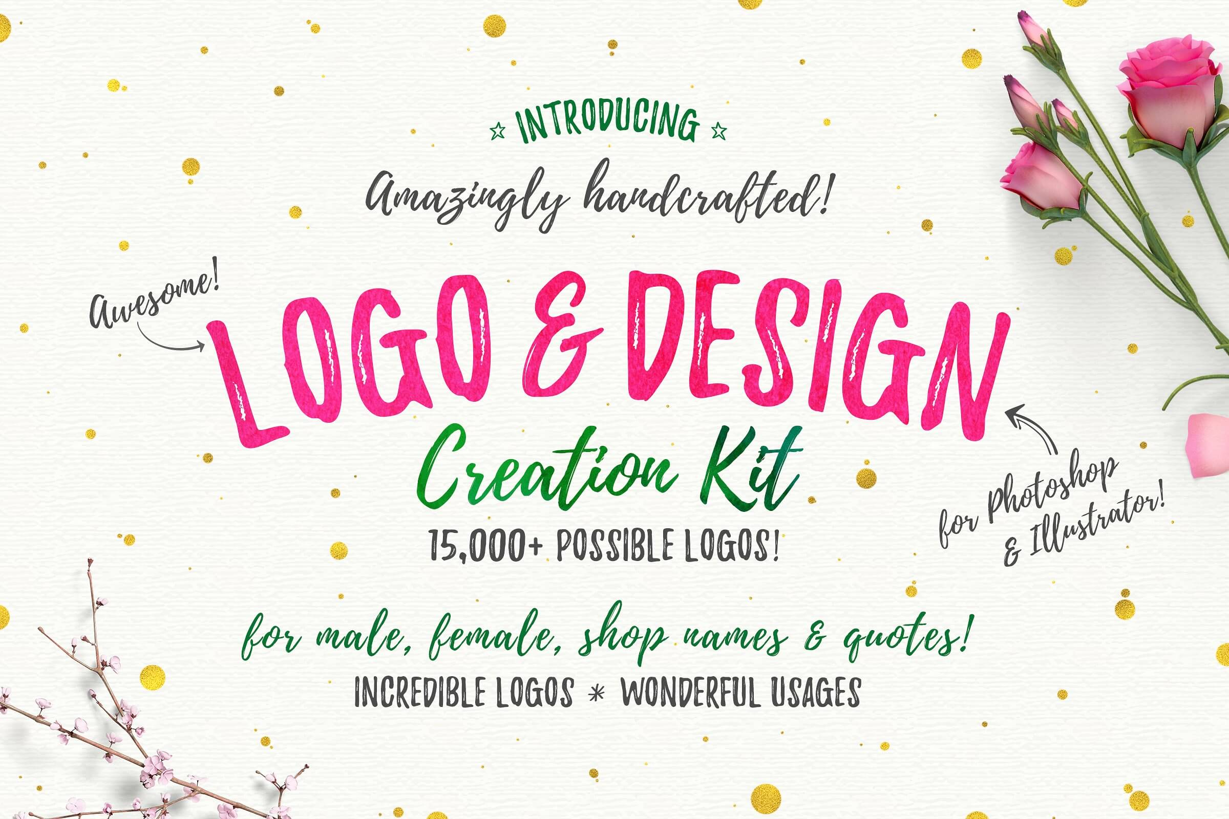 Awesome Logo & Design Creator Kit - The Everyday Designer Bundle Vol. 03