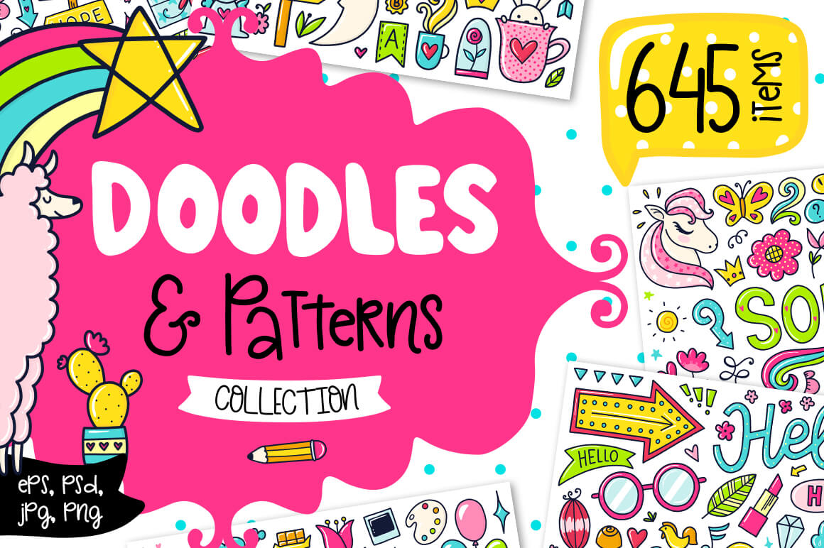 645 Doodles & Patterns - The Everyday Designer Bundle