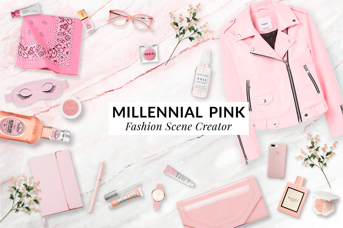 Millennial Pink Scene Creator Kit - The Everyday Designer Bundle Vol. 03