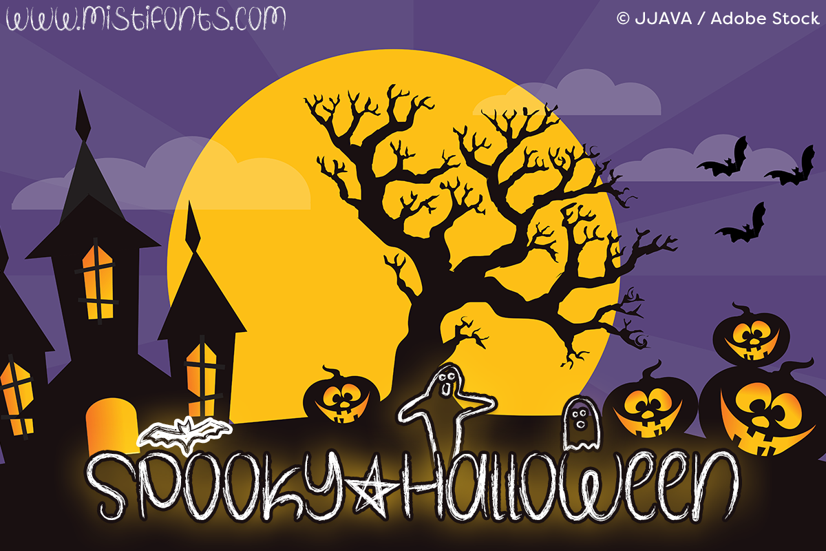 misti fonts spooky halloween