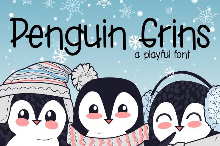 penguin grins font