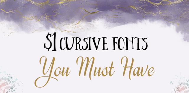 1 Cursive fonts you must have header