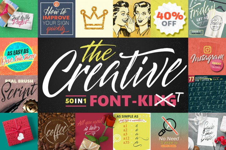 50 in 1 - The Creative Font (BlessedPrint)