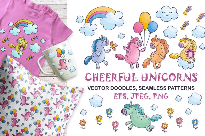 cheerful unicorns